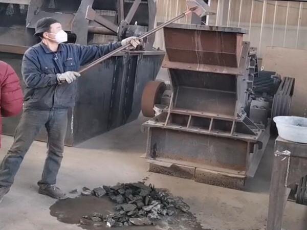 客户带石灰岩试机视频